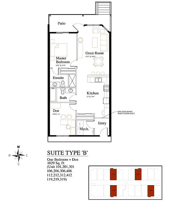 Brownstones Suite Type B