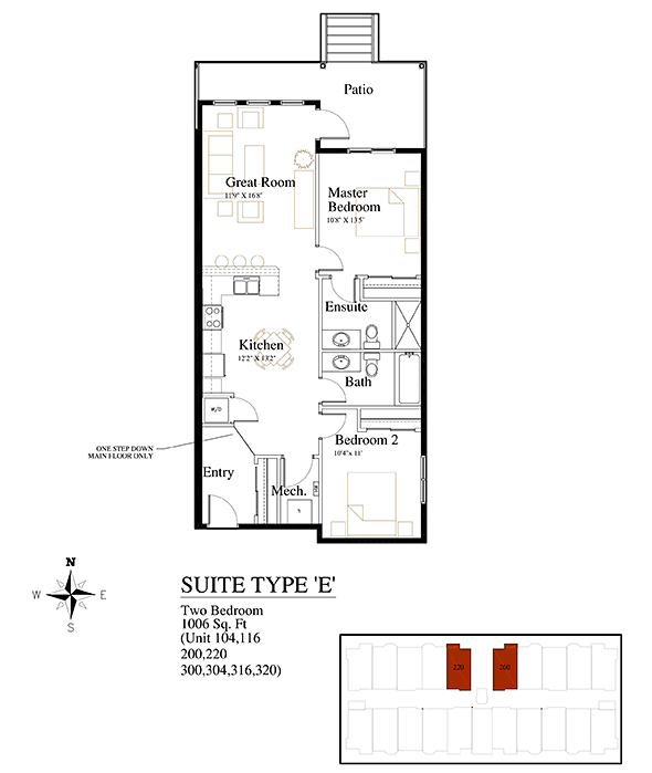 Brownstones Suite Type E